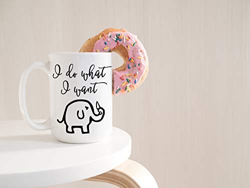 Ik doe wat ik wil koffie mok olifant mok grappige mok koffie Cup unieke mokken ik doe wat ik wil vaatwasser veilig