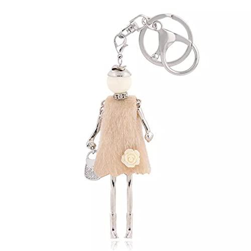 DOOWEEK Fashion Keychain Glamour Girl Keychain Bag Car Pendant Jewel