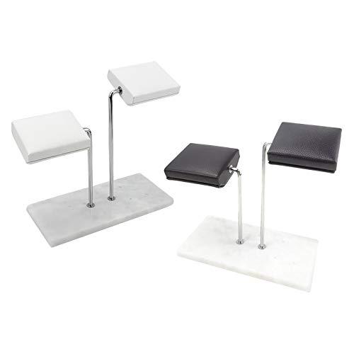 Sharplace Base de Metal Soporte de Exhibición de Reloj Organizador de Joyas Soporte para Pulseras Negro+Base de Metal Soporte de Exhibición de Reloj Organizador