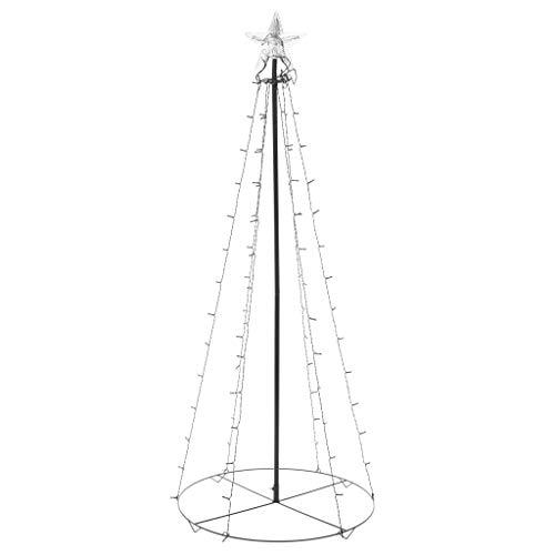 mewmewcat Albero di Natale a Cono con 96 LED per Interni Esterni 72x180cm