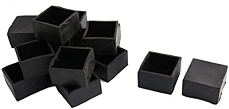 DealMux Rubber Vierkante Buis Insert Tafel Bureau Been Voetdoppen Cover 50mm x 50mm 16st Zwart