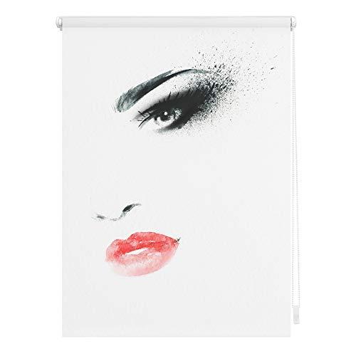 Lichtblick KRT.120.150.302 Rollo Klemmfix, ohne Bohren, Blickdicht, Face - Weiß 120 x 150 cm (B x L)