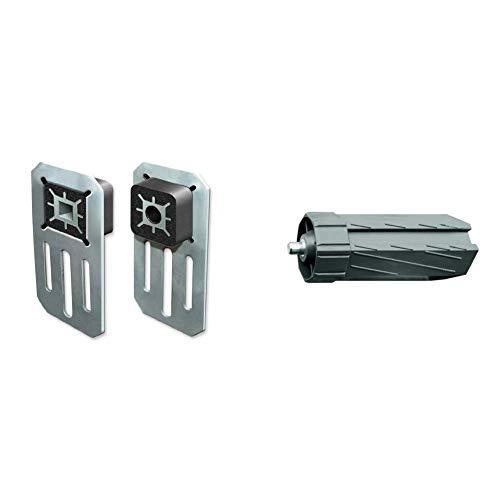 Schellenberg 20305 Wandlager Comfort für Rollladenantriebe & 80100 Walzenhülse Maxi lang, 60 mm
