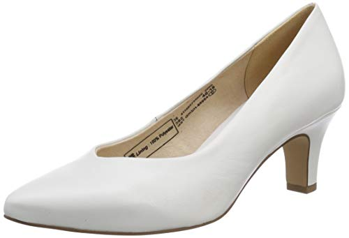 bugatti Damen 411685744000 Pumps, Weiß (White 2000), 39 EU