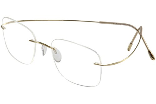 SILHOUETTE Eyeglasses TMA Must Collection 5515 7530 Gold Optical Frame 19x150mm