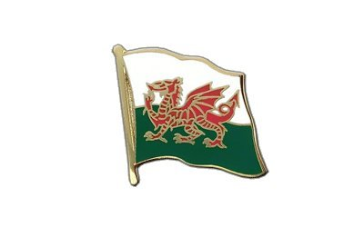 Wales Flaggen Pin, walisische Fahne 2x2cm, MaxFlags®