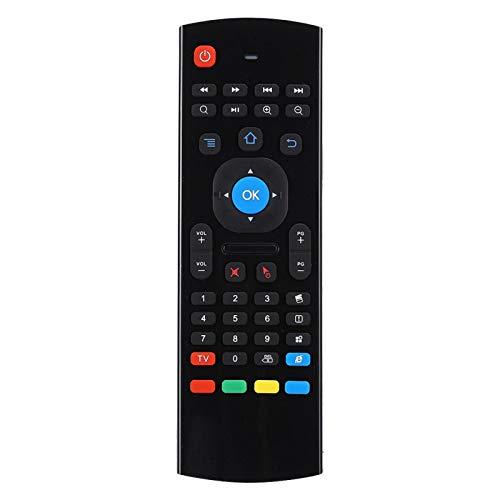 Agatige Control Remoto Inalámbrico Multifunción, Mini Teclado Reemplazo del Controlador de Doble Cara para TV Box Video