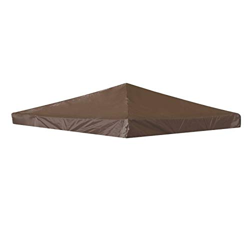 ADHW 3mx3m 1 - Tier Replacement Tent Canopy Fabric Garden Gazebo Top Cover Roof (Color : Coffee)