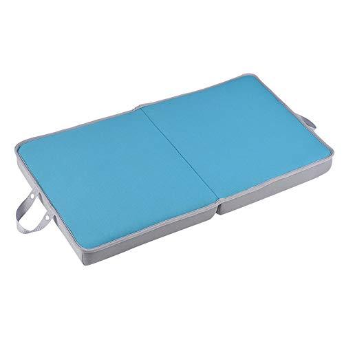 Rodillas de Espesor cojín Plegable Extra Grande Alfombra Antideslizante for Las tareas Interior y Exterior (Color : Blue)