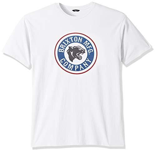 Brixton Herren FORTE S/S STT T-Shirt, weiß/blau, Mittel
