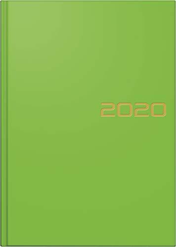 BRUNNEN 107956153 Buchkalender Modell 795 (1 Seite = 1 Tag, 14,5 x 20,6 cm, Balacron-Einband, Kalendarium 2020) hellgrün