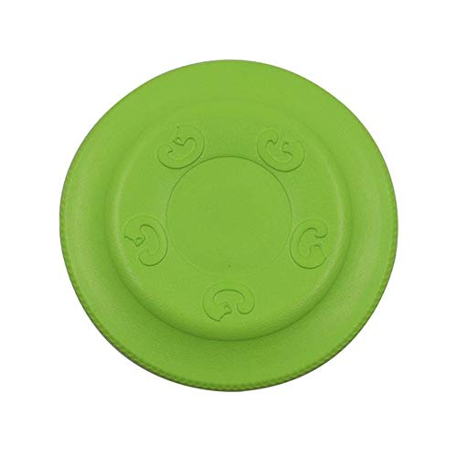 Kalmerende Bed Plush EVA Foam Interactive Toys Flying Saucer Shape Training Hondenspeelgoed Float Water Vliegende Schijven Dog Tag (Color : Green, Size : L)