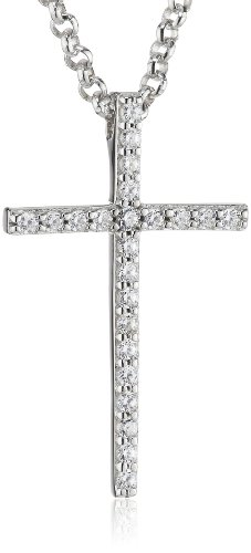 ESPRIT Damen Halskette 925 Sterling Silber rhodiniert Zirkonia ESNL92769A420