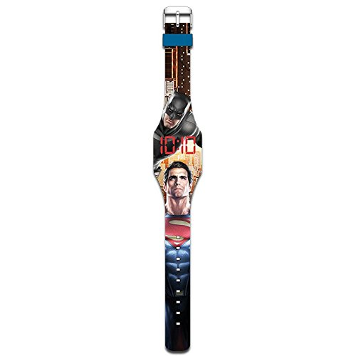 Kids Euroswan Batman Vs Superman LED-Digital-Armbanduhr mit Touch-Display, Mehrfarbig