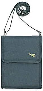 SODIAL Travel Multi-Function Messenger Card Bag Hanging Collar Passport Package Black