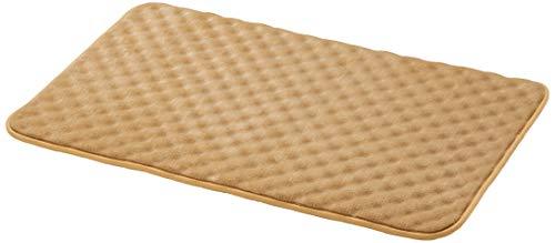 Amazon Basics - Alfombra para baño de espuma viscoelástica ondulada, Camel, 50 x 80 cm