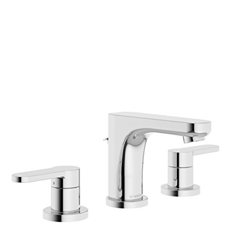 Symmons SLW-6712-1.5 Identity Widespread 2-Handle Bathroom Faucet with Drain Assembly in Polished Chrome (1.5 GPM)