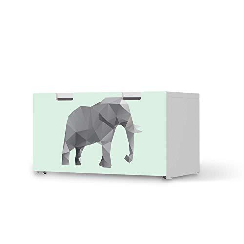 creatisto Kinder Möbeltattoo - passend für IKEA Stuva Banktruhe I Tolle Kinder-Zimmer Deko - Möbelaufkleber für Kinder- und Babyzimmer I Design: Origami Elephant