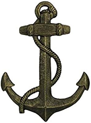 Handcrafted Model Ships K 0137 Gold Antique Gold Cast Iron Anchor 17 In