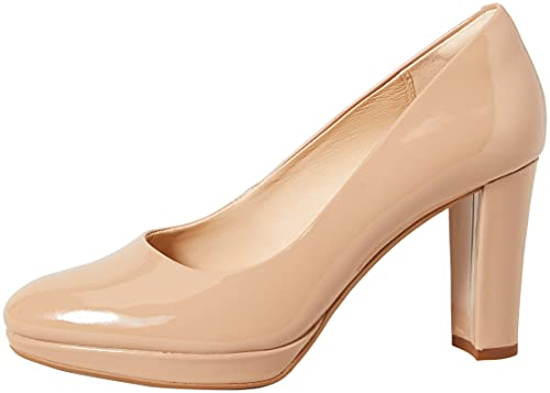 Clarks Kendra Sienna, Zapatos de Vestir par Uniforme Mujer, Patente de Bombones, 40 EU