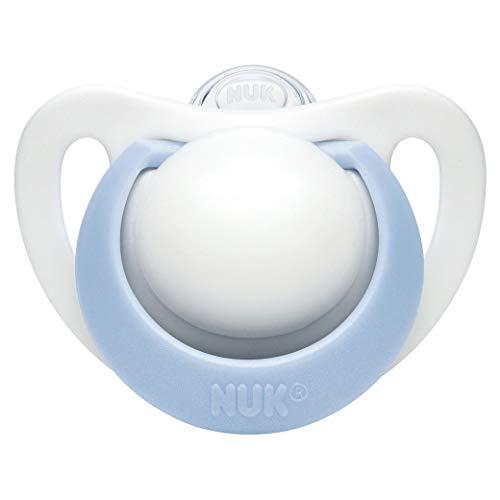 NUK ヌーク おしゃぶり 衛生的な消毒ケース付 [手指なめ 防止に] きれいな歯並びのために ジーニアス ブルー 6ヶ月以上 6-18ヵ月 6か月~ OCNK302033139
