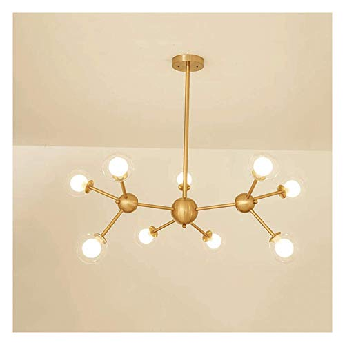 GANE Chandelier Simple and Modern LED Light Source Suitable for Living Room Bedroom Dining Room Lighting Decoration [A+] (Three-Color Light)