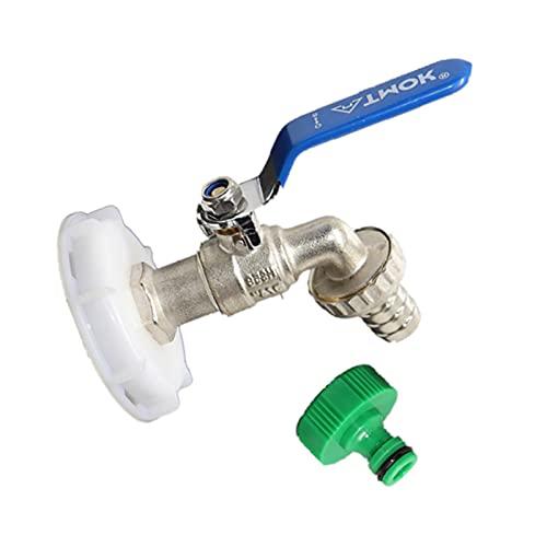 Accesorios para tanque de agua Ibc, adaptador IBC, accesorio para depósito de agua, conector de manguera de repuesto para tanques de agua de lluvia IBC, grifo de descarga ibc