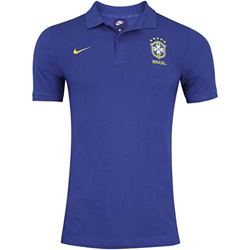 Camisa Polo Nike Brasil 2018 Azul Masculina GG