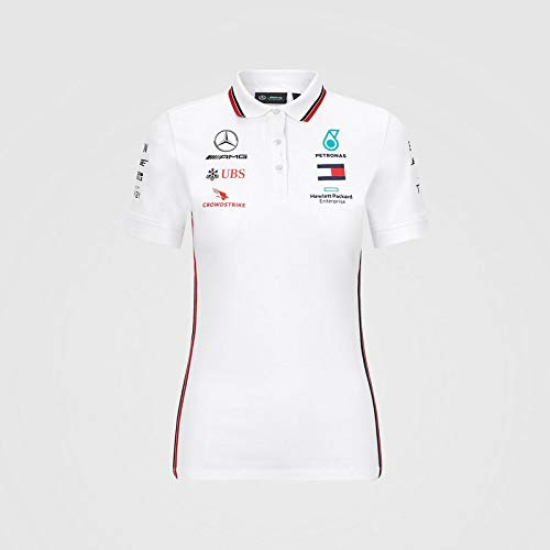 Official Formula One - Mercedes-AMG Petronas 2020 - Femme Polo écurie - Blanc - Size:XXS