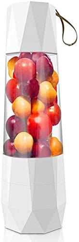 PULLEY - M Batidora portátil, mini licuadoras para batidos y batidos, máquina mezcladora de frutas de mano de 400 ml recargable por USB, batidora de hielo M (color: blanco)