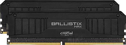 Crucial Ballistix MAX BLM2K8G51C19U4B 5100 MHz, DDR4, DRAM, Memoria Gamer para Ordenadores de sobremesa, 16GB (8GB x2) CL19, Negro