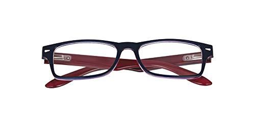 El Charro Occhiali da Lettura Modello Kansas Blu/Rosso, Diottria +2-1 Prodotto