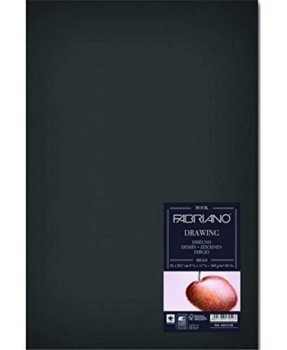 Fabriano Blocco Drawing Book Cucito Ritratto 21x29,7 160 Gr 60 Fogli Grana Naturale