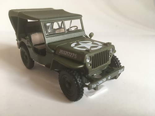 Cararama Jeep Willys 4x4 Soft Top, Auto Modell 1:43 (4-90180)