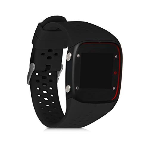 kwmobile Pulsera Compatible con Polar M400 / M430 - Brazalete de Silicona en Negro Mate sin Fitness Tracker