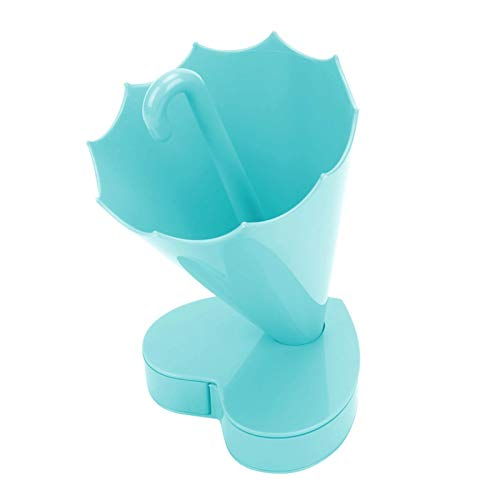 Organizador de brochas de Maquillaje de Material plástico de Primera Calidad, Porta brochas de Maquillaje, familias o colegas para la Oficina, la Escuela, el hogar, Tus Amigos(Blue)