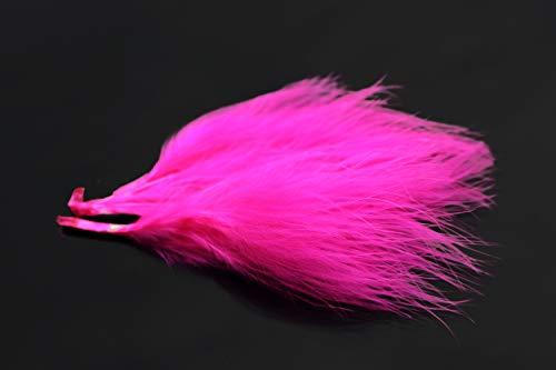 Tigofly 100 Stück/Packung 17 Farben Truthahn-Marabu-Blutfedern, wollige Bugger-Luftschlangen zum Fliegenbinden von Federn (Fuscia)