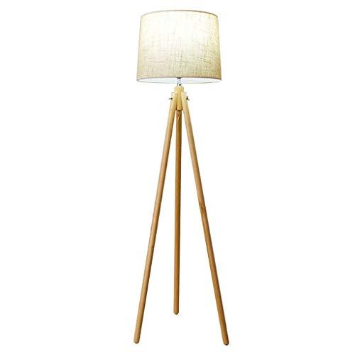 ZCYXQR Lámpara de pie Tradicional de lámpara Alta, lámpara de pie clásica con Interruptor de pie de Base de Pantalla de Tela de Bronce para Sala de Estar, lámpara de pie para dormitorios