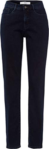 BRAX Damen Style Carola Simply Brilliant Denim Straight Fit Jeans, CLEAN Dark Blue, 31W / 34L (Herstellergröße: 40L)