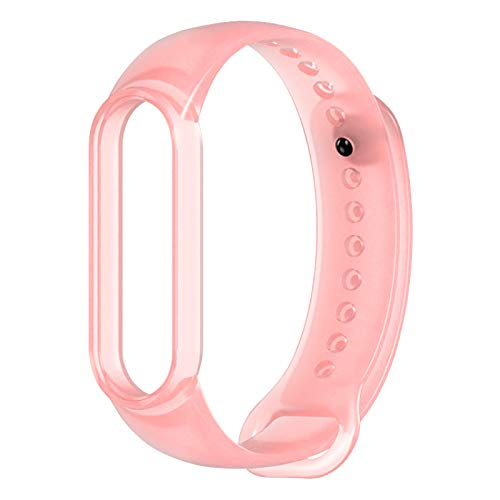Kajiali Silicone Transparent Replacement Strap, Silicone Sports Band, Personalised Jelly Silicone Bracelet for Xiao Mi Band 5