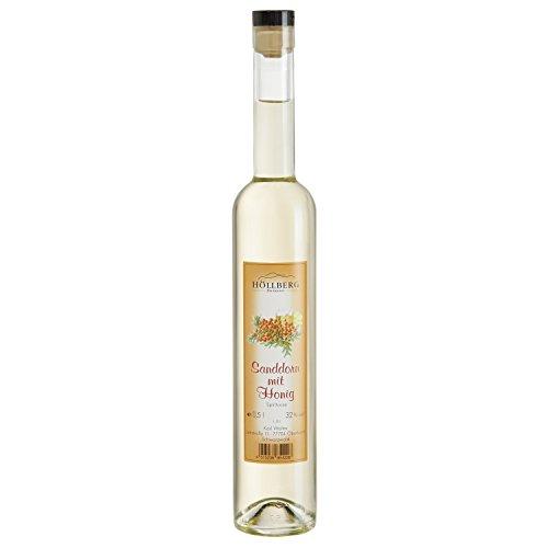 Sanddorn-Geist mit Honig Höllberg 32% vol, (1 x 0.5 Liter) Obstbrand ohne Aromastoffe