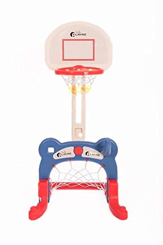 Kids 3-in-1 Sports Center: Basketball Hoop, Soccer Goal, Ring Toss Playset tci43599768