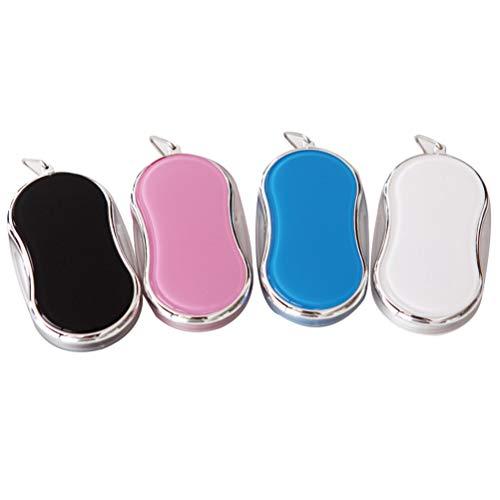 H/L Prachtig opvouwbaar vergrootglas, draagbaar, 8 LED-vorm, acryl, vergrootglas met parels, ketting, 4-delige set