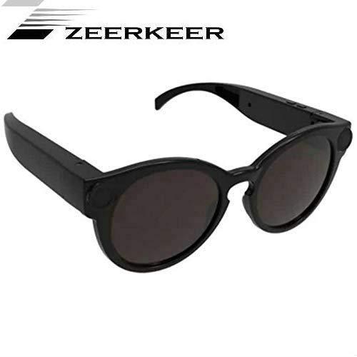 Zeerkeer - Gafas de Sol cámara Deportiva para Coche, grabación de vídeo Full HD 1080p, WiFi, Filtro UV400, para Deportes y Actividades al Aire Libre