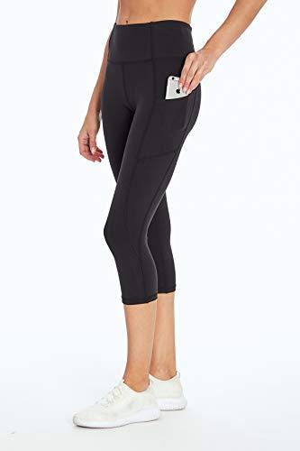Jessica Simpson Sportswear Tummy Control Pocket Capri Legging, Meteorite, Large