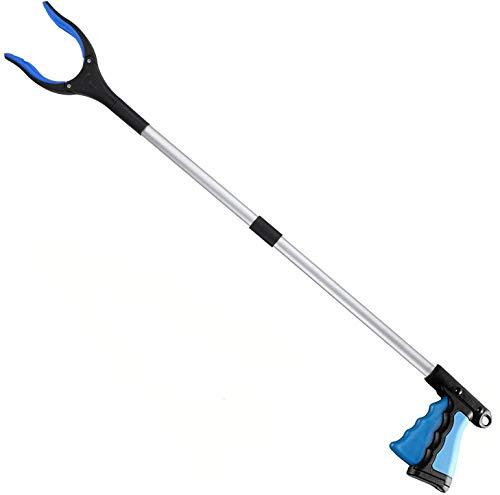 Aptoper Litter Picker,32 inch Upgrade Grabber Tool Grabber Reacher for Elderly, Lightweight Extra Long Handy Trash Picker Upper Claw Grabber,Blue