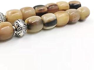 Tasbih Natural Horns 33beads Bracelet Muslim Fashion Product Misbaha Islamic Rosary Bead (12mm x 33beads)