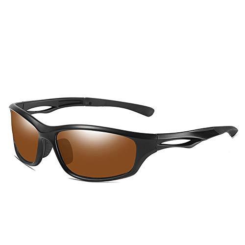 CXJC Polarisierte Herren-Sonnenbrille, UV-Schutz, winddicht, für Sport, Laufen, Radfahren, Angeln, Fahren, Golf, Sonnenbrillen bei Tag und Nacht, mit Aufbewahrungsbox