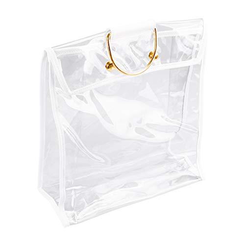 XIYAO Étanche à la Poussière Sac de Rangement pour sac à Main Transparent Organisateur de Sac à Main Protecteur avec Magnétique Casser Poignée en Métal