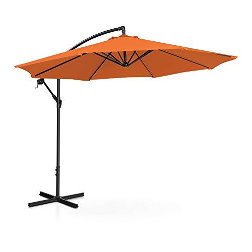 Uniprodo Ampelschirm Uni_Umbrella_R300OR Gartenschirm (rund, Ø 300 cm, neigbar, orange)